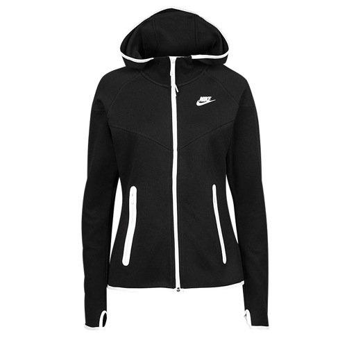 Nike Tech Fleece Full-Zip Hoodie Black/White 657859-011 (SIZE: S)