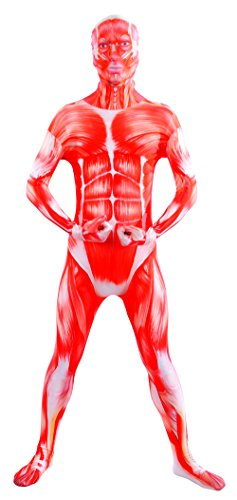 Sheface Spandex Full Bodysuit Zentai Costume (X-Large, Muscle) ()