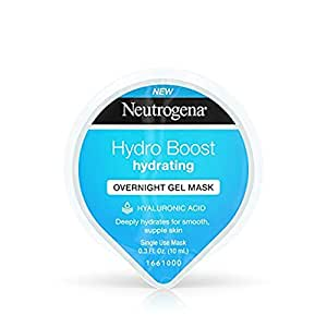 Neutrogena Hydro Boost Moisturizing Overnight Gel Cream Face Mask with Hydrating Hyaluronic Acid, 0. 3 fl. oz (of 12)