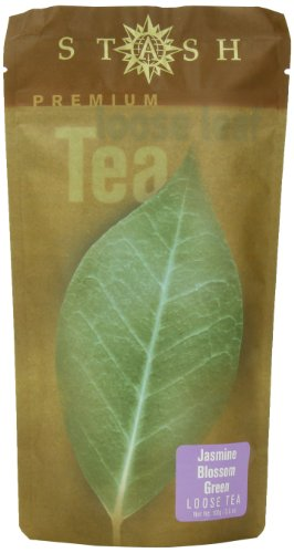 Stash Tea Jasmine Blossom Green Loose Leaf Tea 3.5 Ounce Pouch (Pack of 3) Loose Leaf Premium Green Tea for Use with Tea Infusers Tea Strainers or Teapots, Drink Hot or Iced, Sweetened or Plain