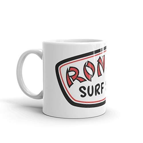 (Ron Jon Logo Mug 11 Oz White Ceramic)