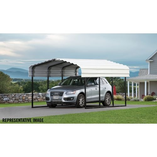 Arrow 29 Gauge Carport, Galvanized Steel Roof Panels, 10'x20'x7'