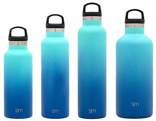 Simple Modern 32oz Ascent Water Bottle - Stainless Steel Hydro Swell Flask w/Handle Lid - Metal Double Wall Vacuum Insulated Reusable Tumbler Aluminum 1 Liter Cold Leak Proof - Pacific Dream -  ASCF-32-PD
