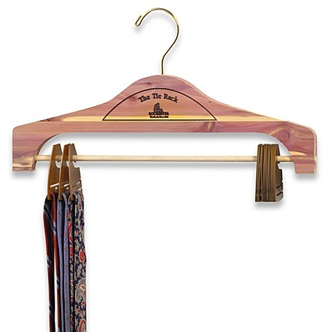 Hanging Cedar Tie Rack clips