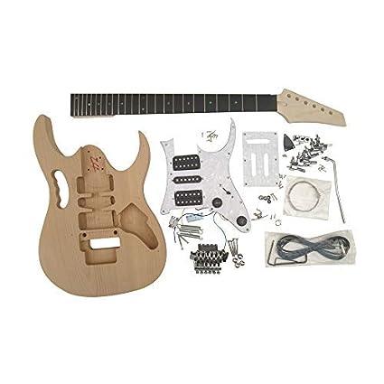 GDGEM4U Coban Guitars Alderwood Cuerpo Guitarra Eléctrica Kit Construcción para Estudiante & Luthier Proyectos