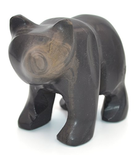 Bear Jet (Jet Black Stone Bear Figure, 4