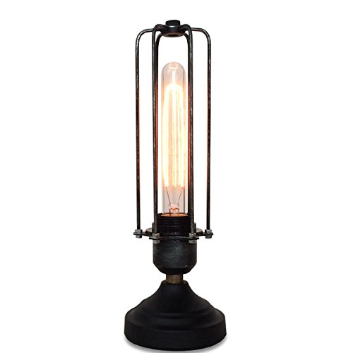 Vintage Cage Table Lamp Bedside Lamp Dimmable Antique Hexagon