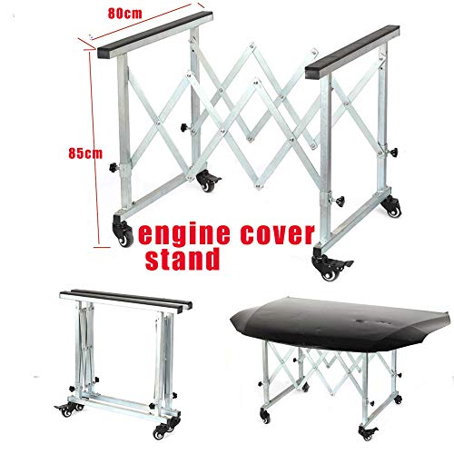 SOTRLO Adjustable Engine Cover Stand Carbon Steel Engine Cradle Wheels: