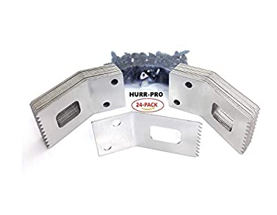 "Universal 1/2"" to 3/4"" Hurricane Window Clips, 24-Pack 6-Windows, Stainless Steel, Reusable, EZ Install, One-Size-Fits-All Hurricane Clip"