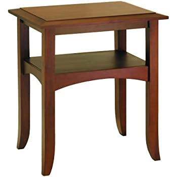 Amazon Com Winsome Wood Nolan End Table Kitchen Amp Dining