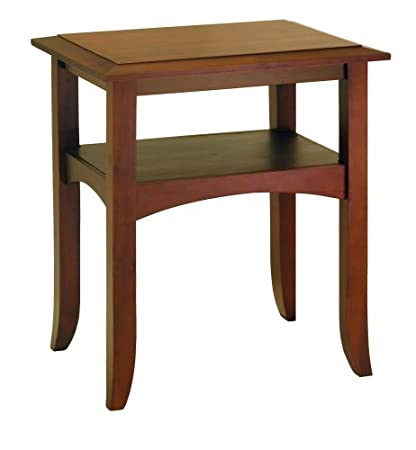 Winsome Wood End Table Antique Walnut