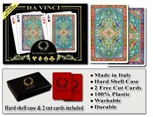 Da Vinci Sorrento - Italian 100% Plastic Playing Cards (Plastic Bridge)