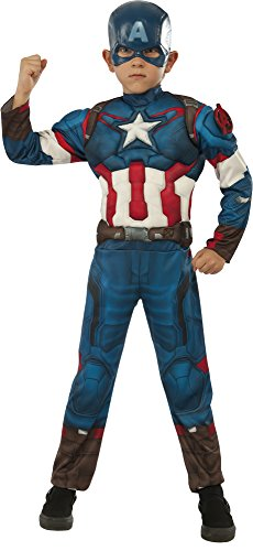 Disguise Marvel Captain America Boys Muscle Costume, Large 10-12