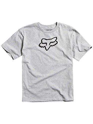 887537908944 - Fox Racing Boys Legacy Short-Sleeve Shirt Large Heather Grey carousel main 0