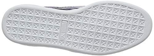 indigo Wn's Mujer Puma Basket Morado Patent puma White Heart Zapatillas Para qnFFBwR87x