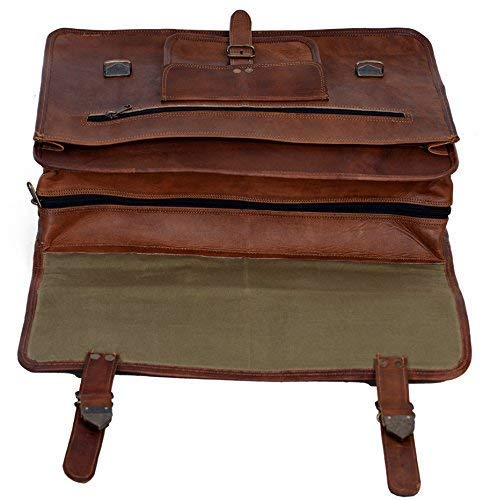 Vintage Leather Messenger Bag Briefcase