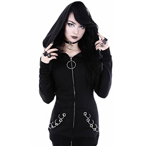 Hot FLCH+YIGE Womens Stylish Gothic Long Sleeve Hoodie Sweatshirt Jackets