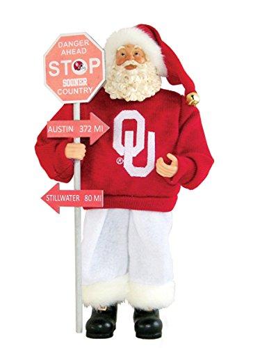 Santa's Workshop OKS025 Oklahoma Country Santa Figurine, 12