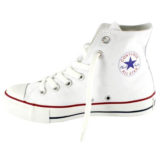 Menns Converse All Star Hi Top Chuck Taylor Patroner Sneaker Trener - Optisk Hvitt - 7