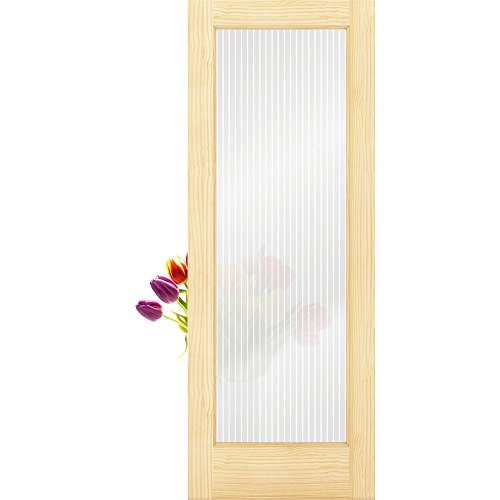 1-Lite Reeded Glass French Door Unfinished, 36