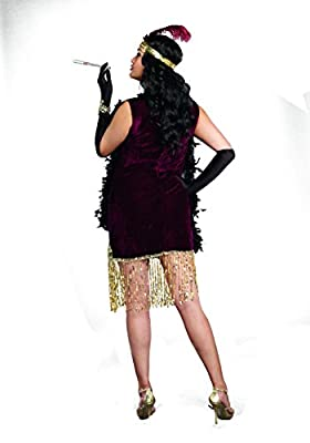 Dreamgirl Women's Plus-Size Sophisticated Lady 1920s Flapper Party Costume