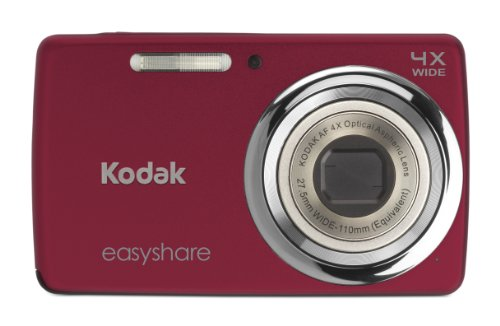 Kodak EasyShare M532 14 MP Digital Camera with 4x Optical Zoom and 2.7-Inch LCD - Red
