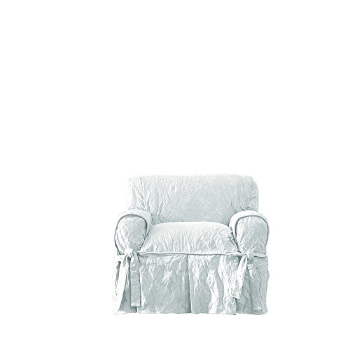 Sure Fit Matelasse Damask One Piece Chair Slipcover - (Damask Polyester Slipcover)