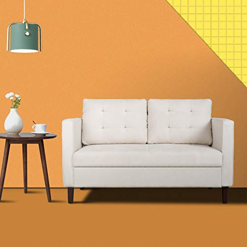 """Modern Classic Loveseat Sofa, Upholstered Sofa/Couch,2 Independent Stretch Cotton Backrest, Suitable for Small Space in Home and Office, 50""""(L"""