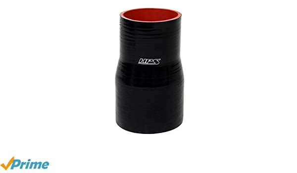 Black 3 Length 2.5  3 ID HPS Silicone Hoses 2.5  3 ID HPS HTSOR-250-300-BLK Silicone High Temperature 4-ply Reinforced Offset Reducer Coupler Hose 60 PSI Maximum Pressure 3 Length