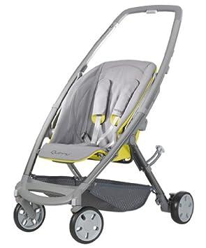 Quinny 72602660 Senzz - Silla de paseo con cesta, capota, protector para la lluvia y adaptador para capazo (3 ruedas), color crudo y amarillo: Amazon.es: ...