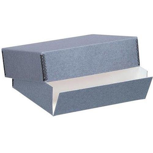 Lineco Museum Archival Drop-Front Storage Box, Acid-Free with Metal Edges, 23 X 31 X 3 inches, Gray (733-0022)