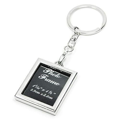 - Elechobby Small Picture Frame Key Chain Ornament (Rectangle)