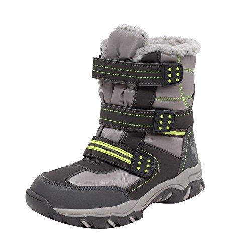Kinder Thermostiefel Schneestiefel Winterstiefel Outdoor Stiefel Snowboot Boots für Mädchen Jungen Gr.30