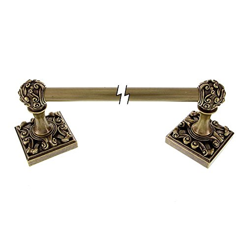 Vicenza Designs TB8001 Sforza Towel Bar, 24-Inch, Antique Brass ()