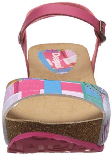 Desigual Shoes_bio 7 Sandal - Sandalias con Cuña Mujer Rosa - Pink (3167)