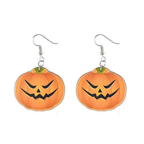 Bodyslam 1 Pair Halloween Party Ghost Pumpkin Ear Stud Dangle Hoop Drop Earrings Jewelry]()