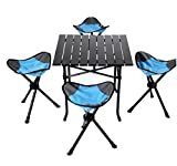 RUIRUI Camping Folding Stool - Portable 3 Legs Chair Tripod Seat For Outdoor Hiking Fishing Picnic Travel Beach BBQ Garden Lawn with Strap Oxford Cloth , c