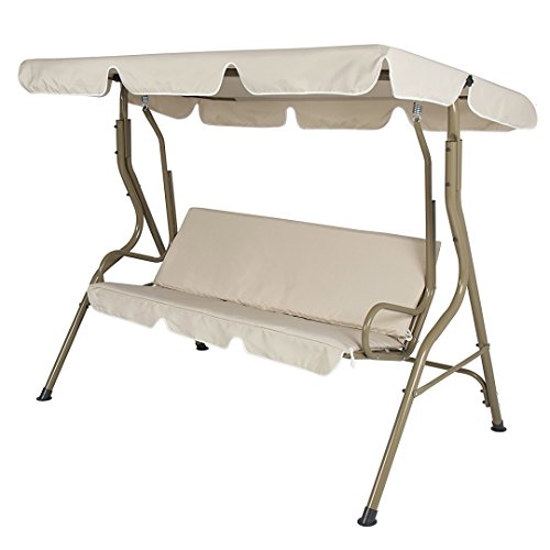 koonlert14 Porch Patio 3 Person Swing Hammock Cushion Seat S