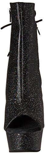 Black Women's Matte Boot 1018mmg Faux Black Leather Ankle Pleaser Delight 8nHx8d