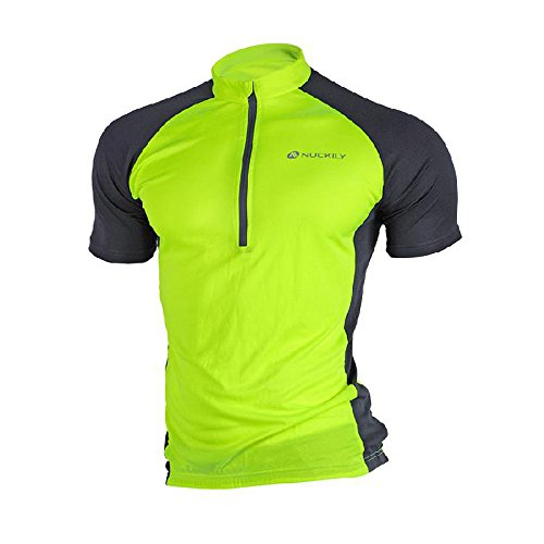 Nuckily Men's Cycling Outdoor Short Sleeve Jersey Cycling Jersey Comfortable Breathable Shirts Tops Sportswear