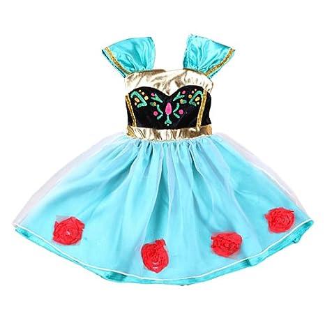 9a6a6c462b411 Amazon.co.jp: ベビーガール幼児 フローズン アナ戴冠式風ドレス ハロウィンコスチューム 9m-4  服&ファッション小物