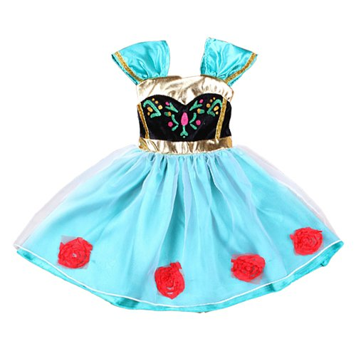 Daily Proposal Baby Girl Toddler Anna Coronation Dress Frozen Inspired Costume Halloween 9m-4T (3T (100cm)) ()