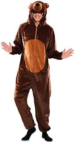 dressfan Unisex Adulto Pijamas Animales Oso Marr/ón Traje de Cosplay Traje Animal Traje de Oso Marr/ón Pijamas Adulto Ni/ño