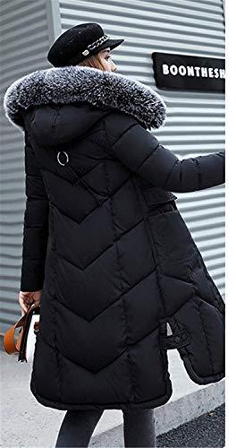 Lanceyy élégante femmes l'automne en matelassée chaud pour et duvet à veste Veste monochrome XwAITqptxn