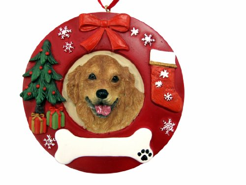E&S Pets Golden Retriever Personalized Christmas Ornament