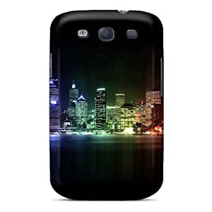 Galaxy S3 BRUZN3633pAAJc Multi Colored City Tpu Silicone Gel Case Cover. Fits Galaxy S3