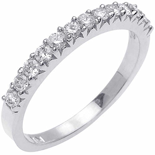 (0.45ct TDW White Diamonds Platinum Women's Comfort Fit Wedding Band (G-H, SI1-SI2) (2mm) Size-6c1)