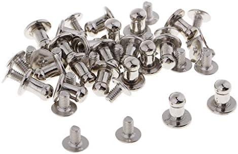 20本 スクリュー リベット ファスナー スタッド ボタン ラウンドヘッド ミニ 防錆性 装飾 ブロンズ