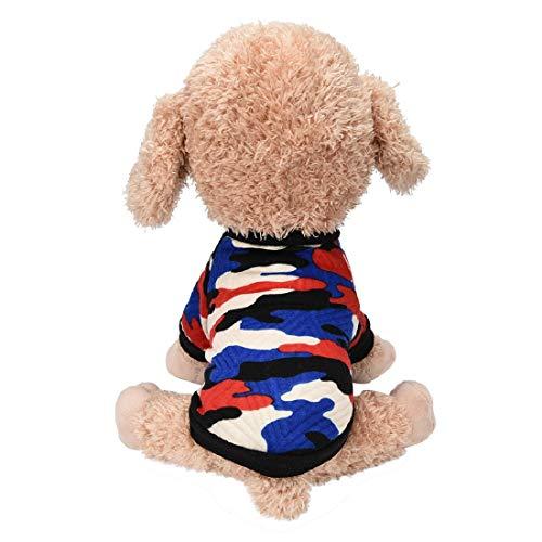 Dog Camouflage Shirt Camo Dog Shirt Puppy Soft Sweatshirt Doggie Soft T-Shirt Pullover Pet Apparel Tops