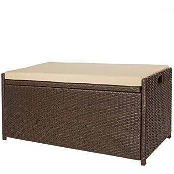 Phenomenal Amazon Com Keter Eden 70 Gallon Storage Bench Deck Box For Creativecarmelina Interior Chair Design Creativecarmelinacom